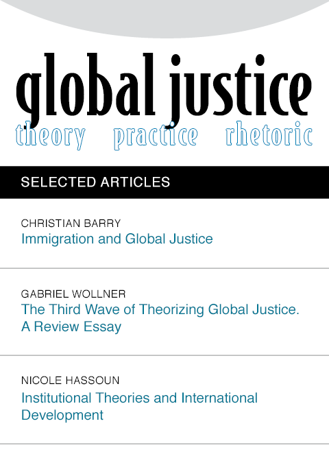 global justice: theory practice rhetoric - cover